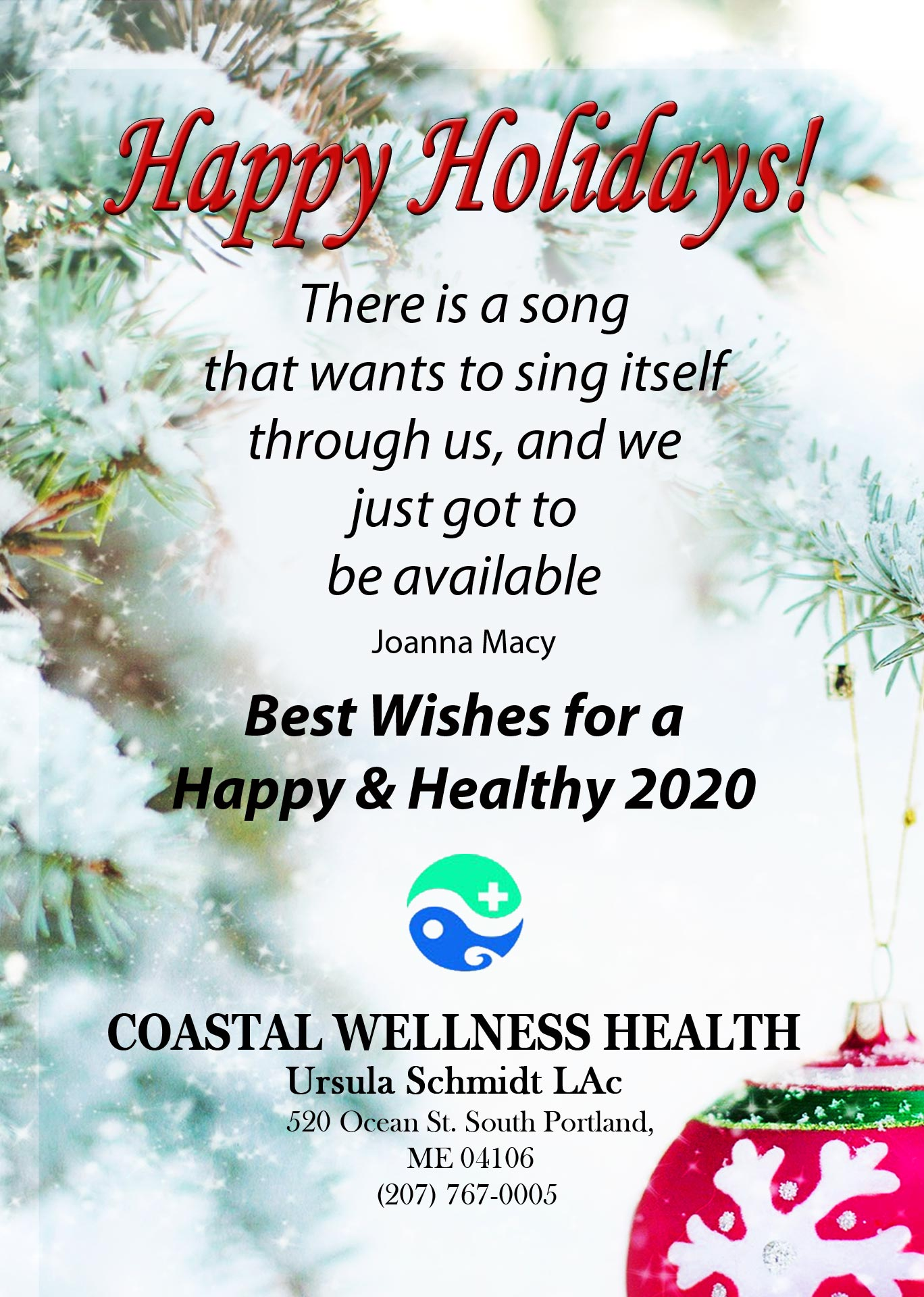 Ursula Schmidt LAc. Coastal Wellness Health